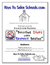 Bullying Stops when Respect Begins - Faclitator pg1