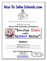 Bullying Stops when Respect Begins: Trainer & Wrkbk, pg1