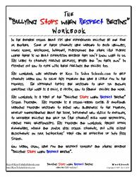 Bullying Stops when Respect Begins - Wrkbk, pg1